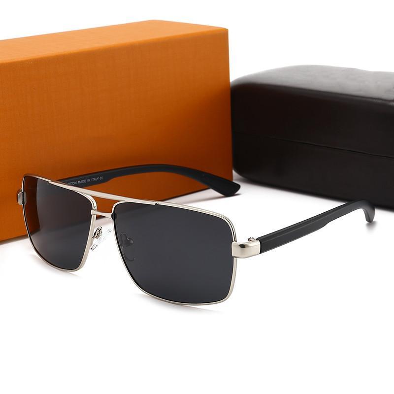 Luxo Alta Qualidade 7720 Designer Homens Mulheres Moda UV400 Quadro Completo Óculos De Sol Clássico Polarizado Eyewear Espelho Óculos Casal