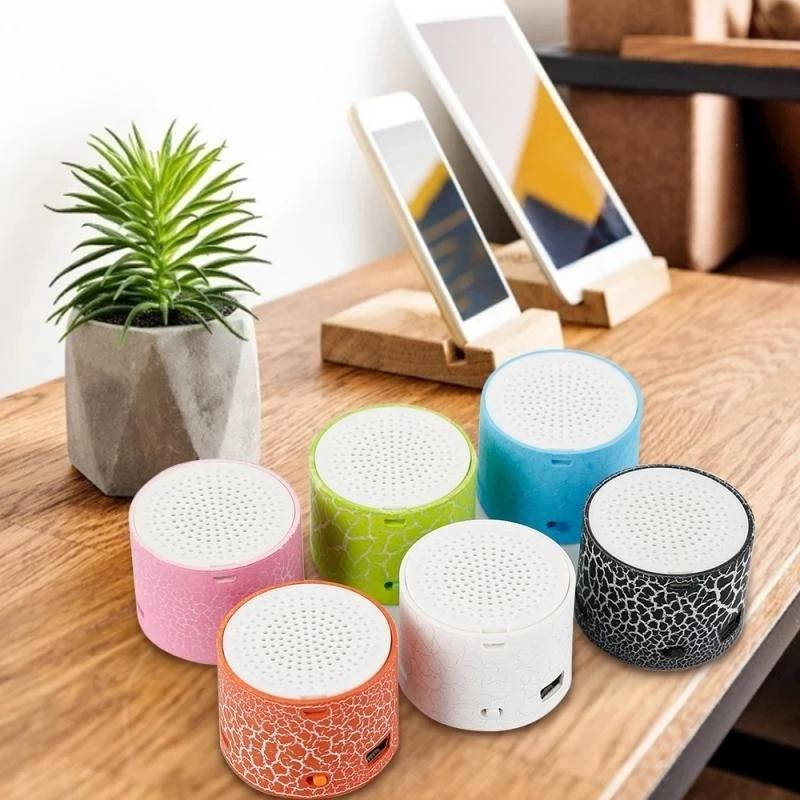& MP4 Players Music Audio Built-in Microphone Portable Speaker Light And Strong Cracked Bluetooth Car LED Subwoofer Disk U Card