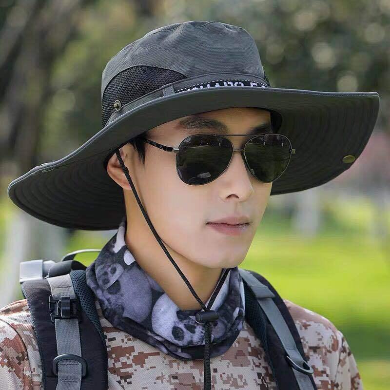 Осенняя мода мужская рыбака открытый взрослый шляпа солнцезащитный крем УФ рыбалка водонепроницаемая быстрая сушка