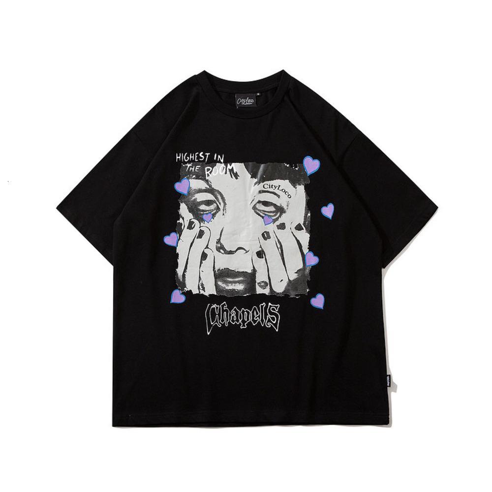 2021 New Harajuku Kid Spoof t-shirt homens 2021 verão hip hop t - shirts Streetwear dos desenhos animados camisetas Mouw Curto Casual Tops Algodão
