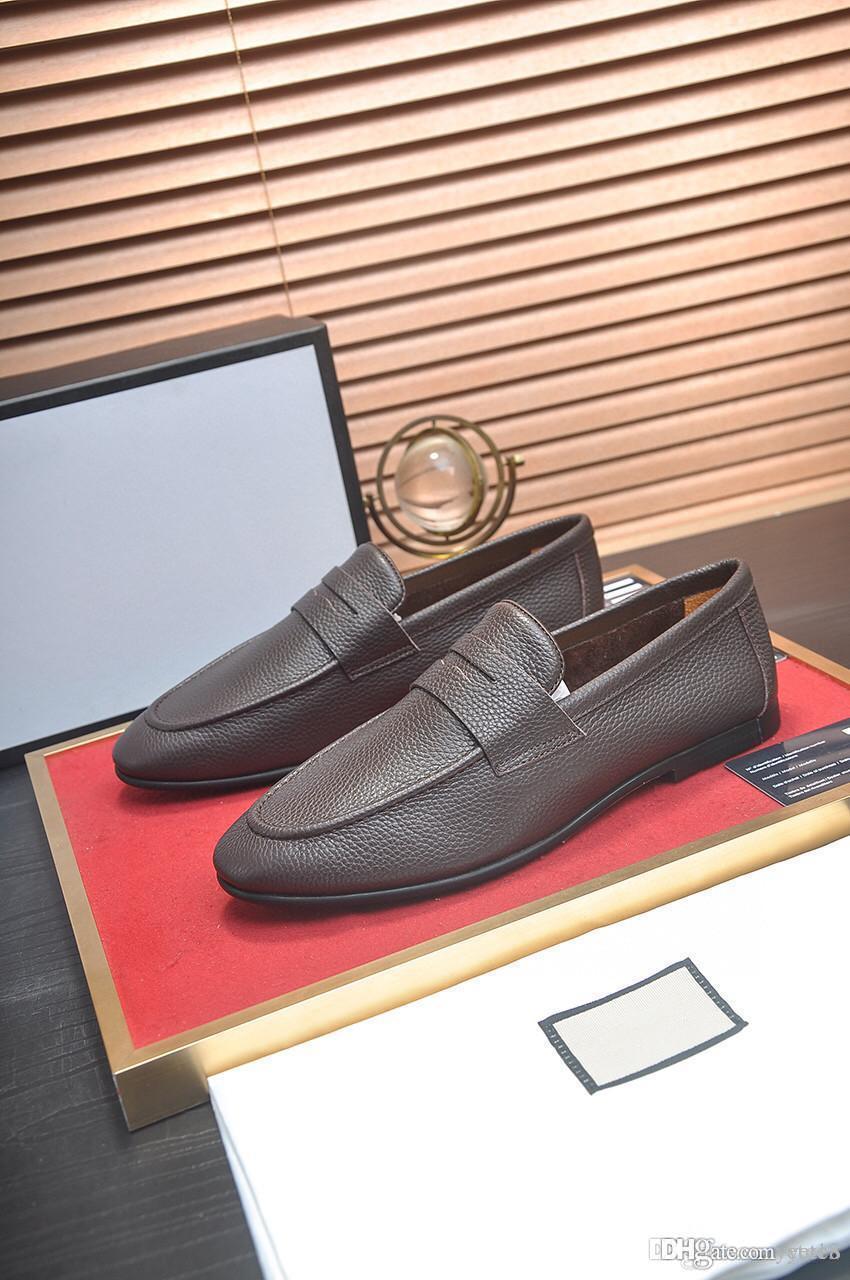 Мужские туфли Большой размер 38-45 Натуральные кожаные Мужские Мокасины Летние Кроссовки Складские Свадебные Официальные Роскошные Платье Мужская Обувь Вождение Мокасина 22