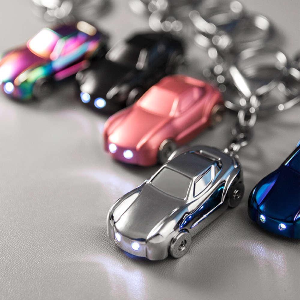 Acessórios de moda LED Car Car Personalidade Criativa Escola Schoolbag Anel Anel Homens e Mulheres Amantes Chaveiros Pingente