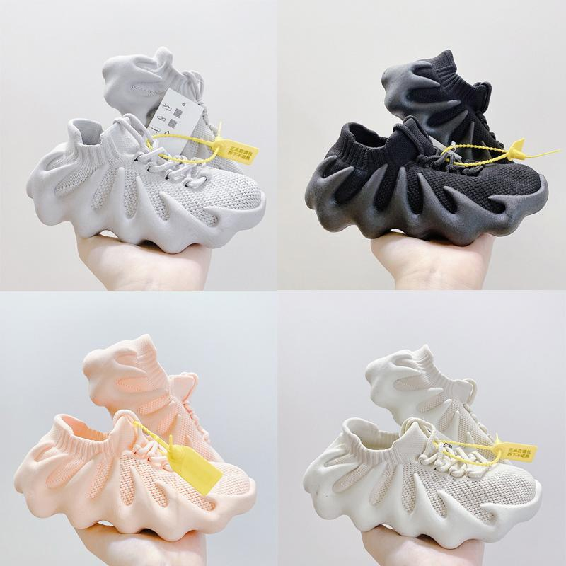 Atmen Sie 450 dunkle Slate Wolke Weiß Rosa Grau Kinder Laufschuhe Jungen Mädchen Jugend Kind Sport Sneaker