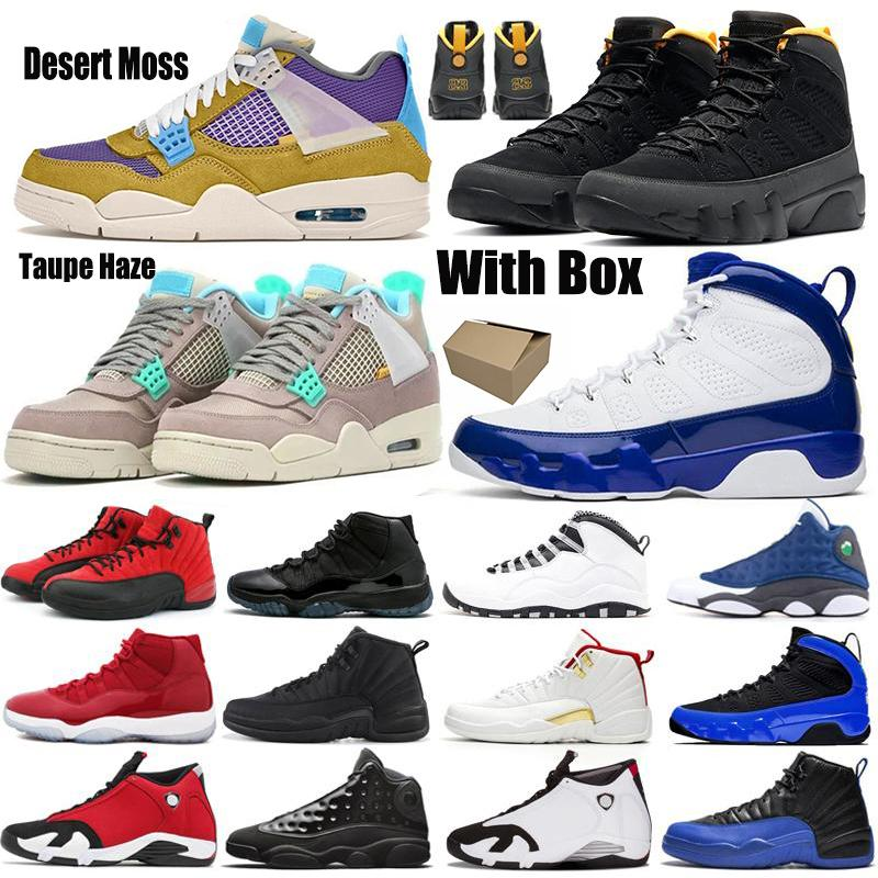 9S Desert Moss Basketball Chaussures de basket Inverser Game 10s Taupe Haze 11s Gym 12s University Gold 13s Bred 14s Starfish Ailes Sneakers