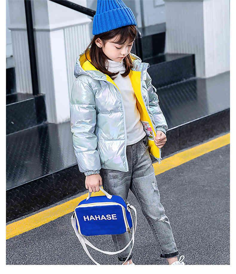 2021 otoño invierno niños impermeable impermeable espesar algodón niños pequeños chaqueta colorido chaqueta chicas abrigo ropa 4-10
