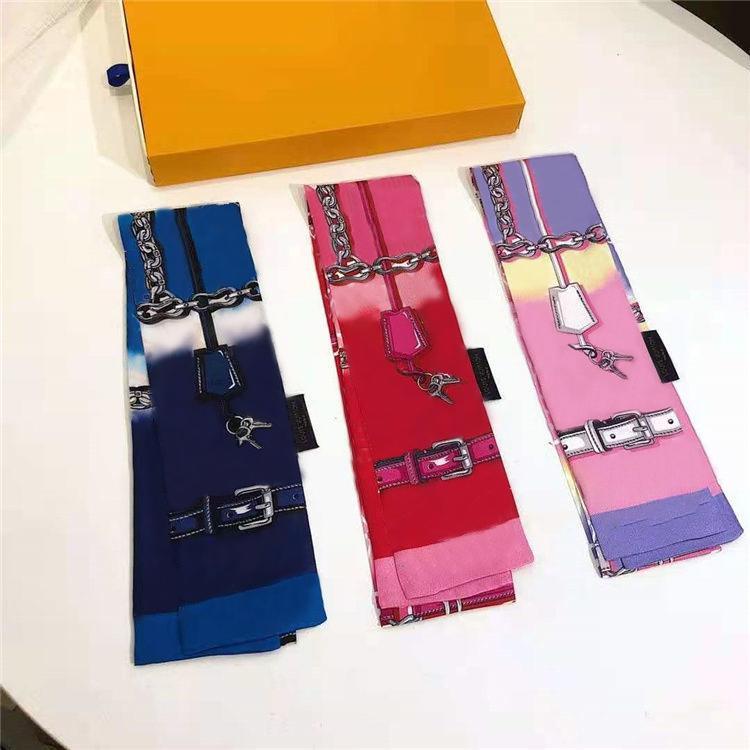 Brand di lusso Brand Sciarpe di moda Designer Designer Fascia Classic Borsa Sciarpa Materiale di seta di alta qualità Taglia 8 * 120 cm