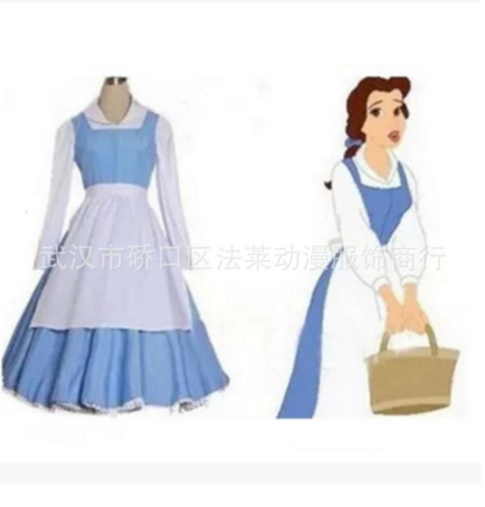 Bestia Casual Dresses Beauty and Maid DRS Prints Costume Show