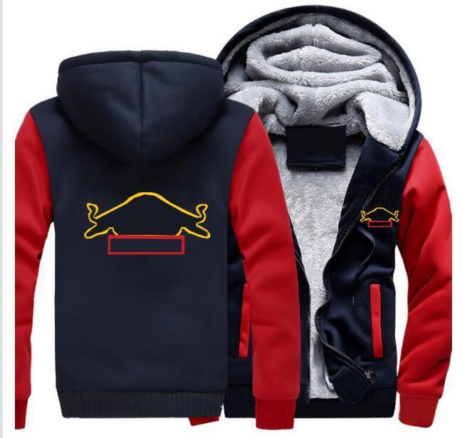 Giacca F1 Autunno e inverno Nuova squadra Verstappen F1 Plus Velvet imbottita con lo stesso stile di personalizzazione