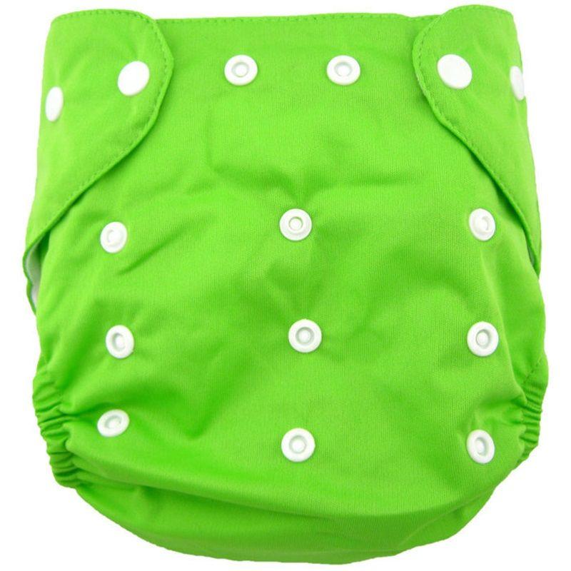 Vendita limitata 9-24 mesi riutilizzabili Pannolini per bambini regolabili Unisex Baby Lavabile Grid Grid Cover Soft Cover Panno Panno Summer Estate Denue 859 V2