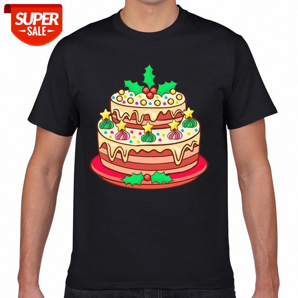 T-shirt homens de padaria de Natal biscoitos bolos biscoito xmas design preto geek algodão macho tshirt xxxl festa # hy5g