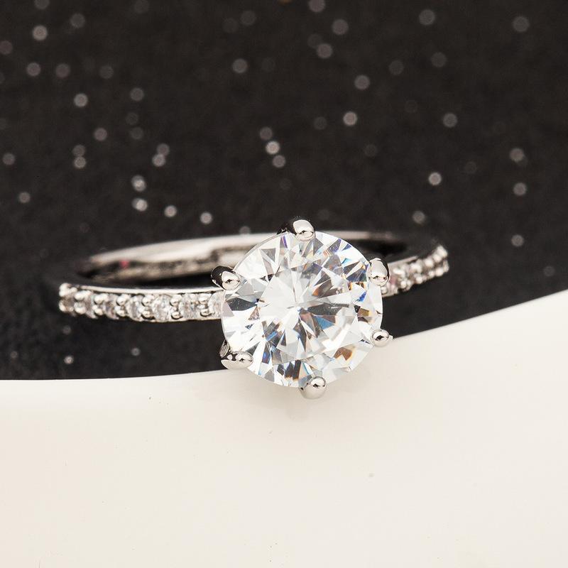 Gioielli coreani Fashion Creative Set Zircon Classic Women's Wedding Ring