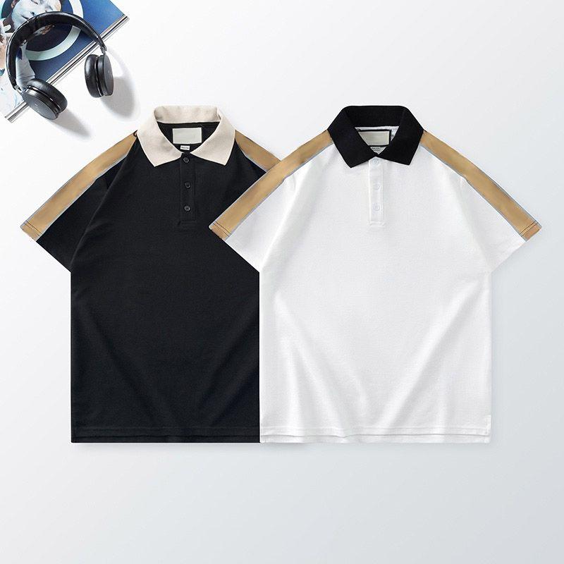 الرجال عارضة قميص بولو الأزياء عاكس حزام خطاب نمط رجل الصيف قمم تنفس قصيرة الأكمام للجنسين المحملات