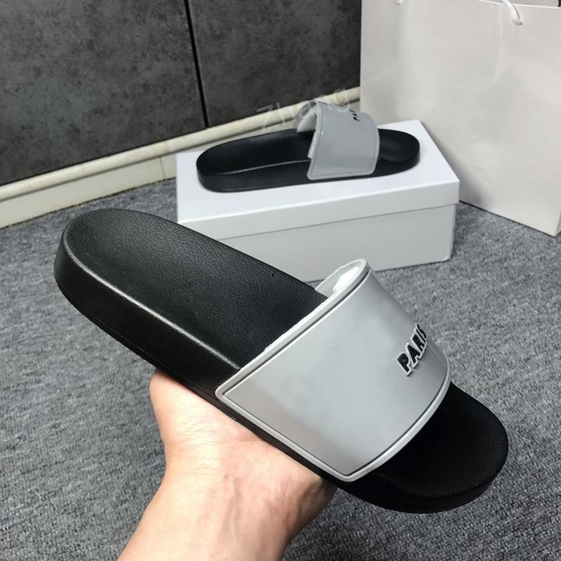 2021 çiftler moda terlik dişli dipleri erkek çizgili sandalet nedensel kaymaz yaz huaraches terlik flip flop kalite kutusu ile