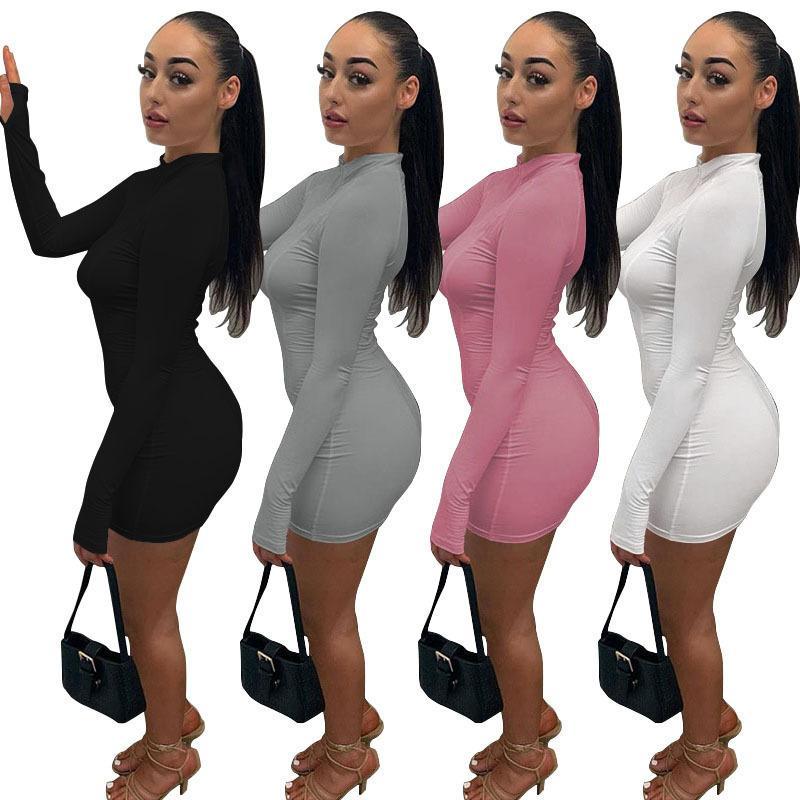 Sexy Women Dresses Mini Dress Fashions Casual Long Sleeves Ladys