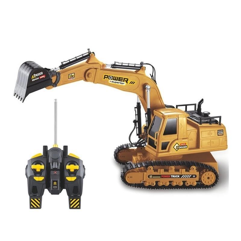 2.4g 1:18 RC Escavator Engineering Tractor Truck Toys Toys Boys Simulazione Telecomando Auto Modello giocattolo per bambini Regalo di Capodanno 201209