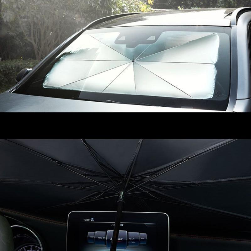 자동차 태양 그늘 보호자 파라솔 자동 전면 창문 덮개 덮개 인테리어 앞 유리 보호 액세서리