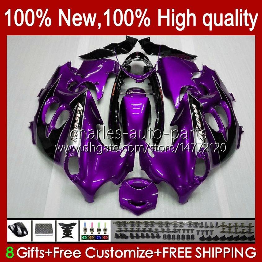 Lichaam voor Suzuki GSXF750 GSXF600 KATANA GSXF 600 750 CC 600CC 750CC 1998 1999 2000 2001 2002 29NO.83 GSX750F GSXF-600 GSXF-750 GSX6F 98 99 00 01 02 Kuiken Paars Glanzend