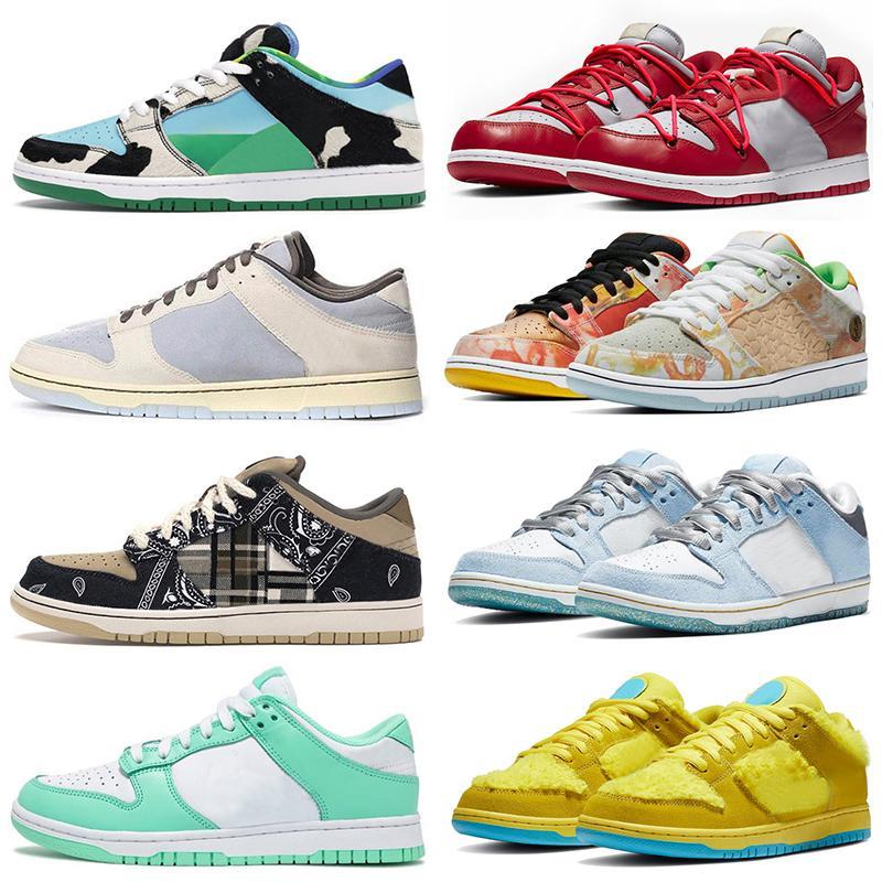 أحذية sb dunk low off white Chunky Dunky Civilist Kasina Rubber Dunks Chicago Valentine  أحذية رياضية للرجال والنساء أحذية رياضية للرجال