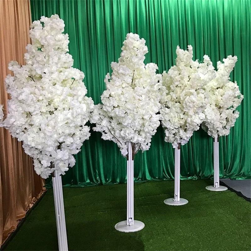 Imitación cerezo colorido artificial flor de cerezo árbol romano columna carretera liderazos de boda alameda abiertos apoyos de hierro arte flor