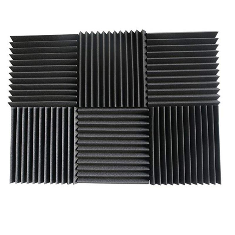 "48 stücke Acoustic Panels Studio Schalldämmung Foam Wedge 1 ""x 12"" x 12 ""Fzflr 1333 V2"