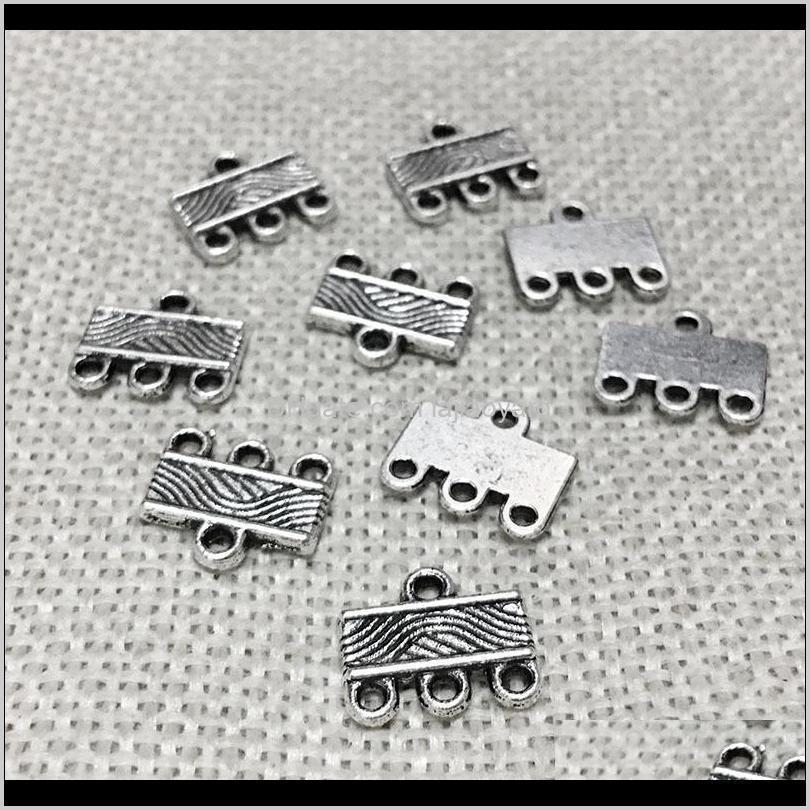 Beauchamp Vintage Anhänger Kautschläuche Halskette Endverbinder Links Metall Charms Armband Perlen Spacer Clacs Schmuck Fundungen Wmtuds Bulx4 hyvxg