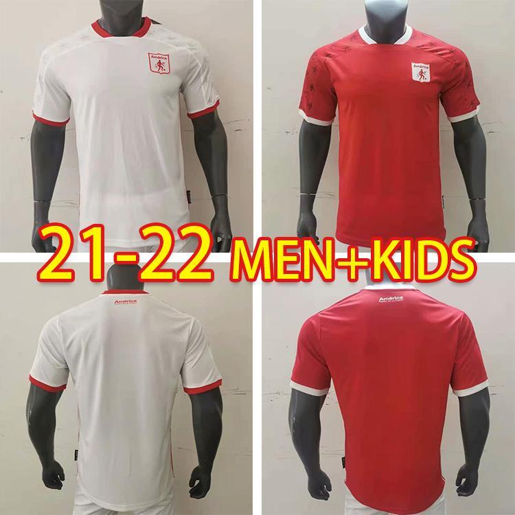 2021/2022 Personalizzato Soccer Jersey America de Cali fan Versione Casa Away Man + Kid Kit Camicia da calcio