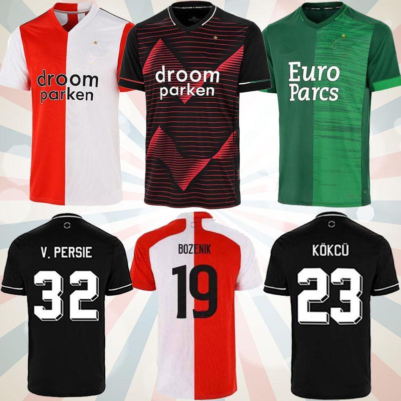 21 22 Home Away Hommes S-2XL V. Perse Soccer Jerseys Toornstra Jorgensen Home Football Shirts Vilhena Clasie Larsson Berghuis ème Uniformes