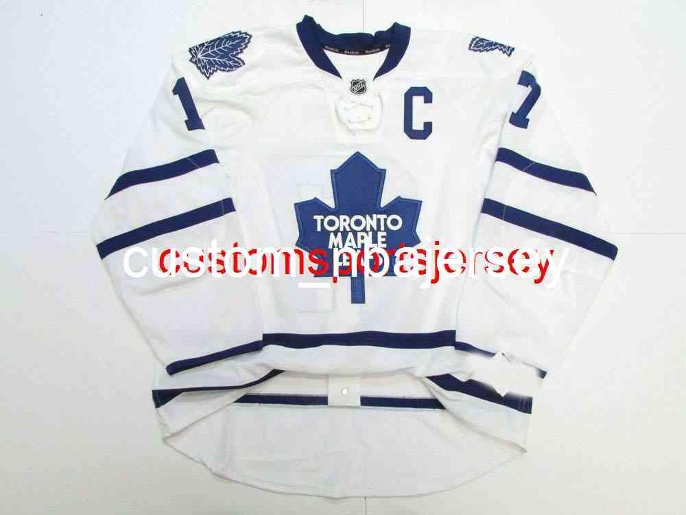 Ricamo Clark Toronto Acero Foglie Away Team Emesso Jersey Uomo personalizzato Hockey Jersey Aggiungi qualsiasi nome Nome