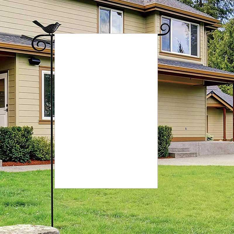 Banners de sublimação 30 * 45cm Branco Em branco transferência de calor bandeiras de impressão de três camadas de poliéster térmico festival decoração DIY Acessórios A02