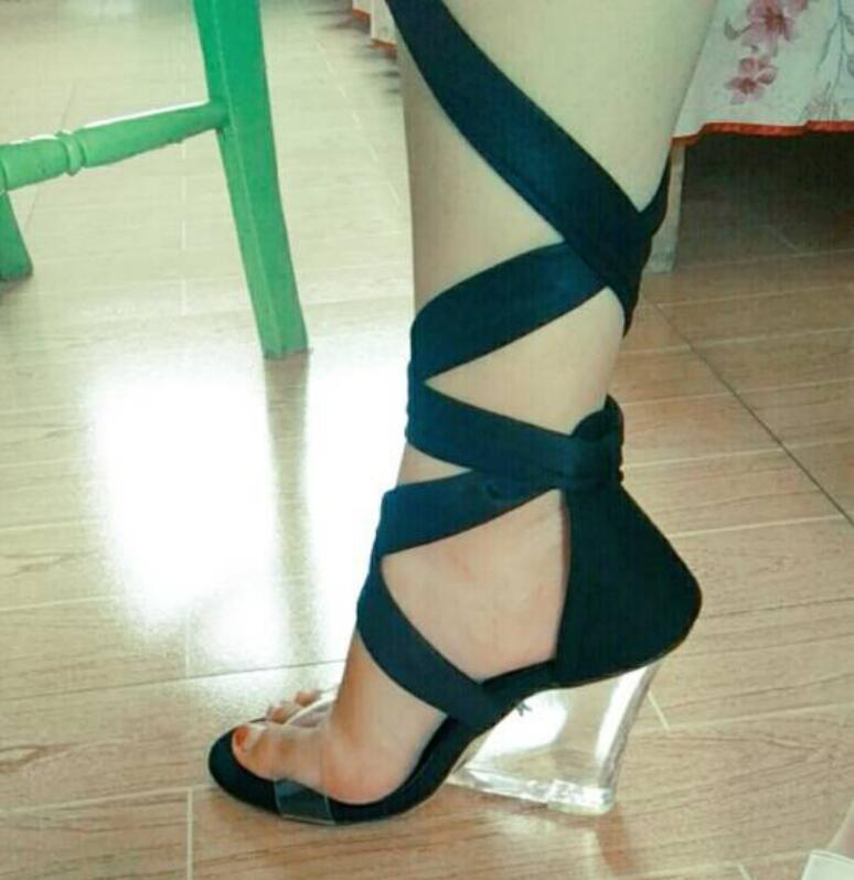 202 Sexy Shoes Ankle Clear Fashion Luxury Designer Women's Sandal Gladiator chunky heels in sizes 35-41