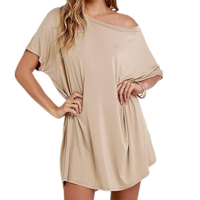 T-shirt etek kadın gevşek rahat 2021 yaz yeni dressauw7