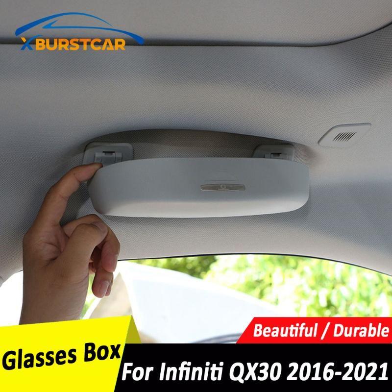 XburstCar 자동 자동차 선글라스 홀더 안경 케이스 케이스 저장 상자 액세서리 Infiniti QX30 2021 기타 내부