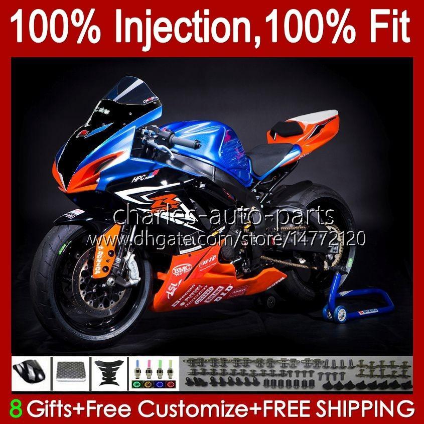 Suzuki GSXR600 K8 GSX-R750 GSXR-600 GSXR-750 GSXR750 Bodywork 9HC.61 광택있는 오렌지 GSX-R600 2008 2009 GSXR 600 750 CC 600CC 750cc 08 09 10 Fairing