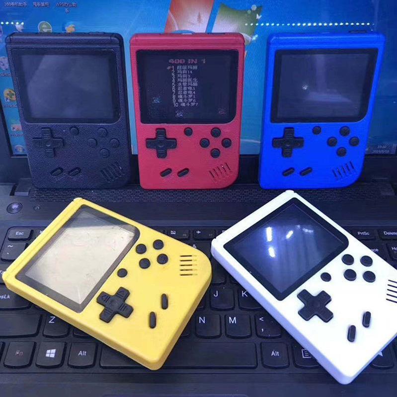 휴대용 핸드 헬드 미니 비디오 게임 콘솔 플레이어 레트로 8 비트 400 in 1 Plus AV 출력 케이블 3.0 인치 컬러 LCD DHL