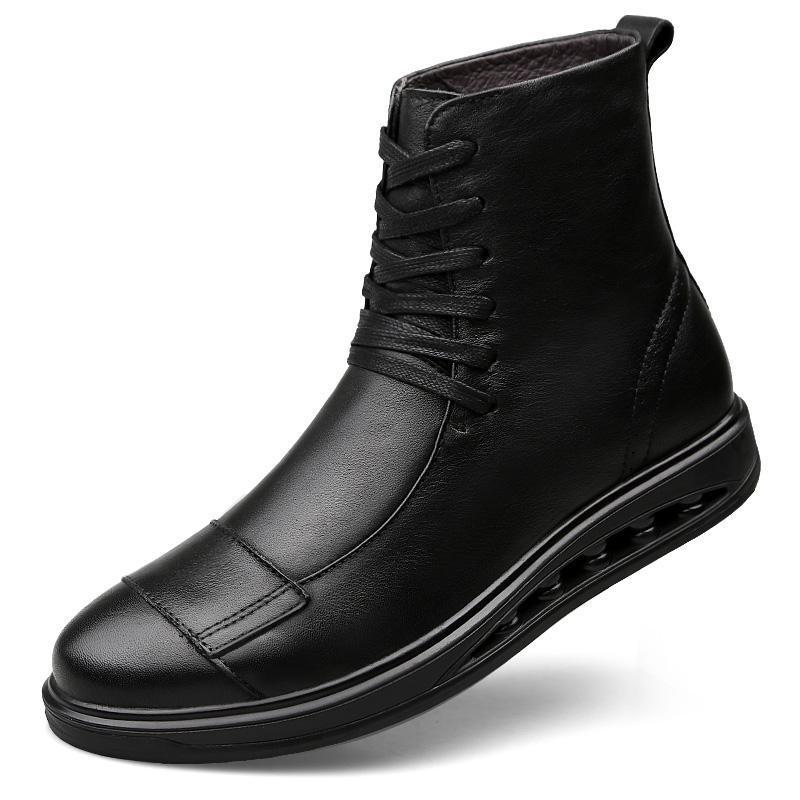 Stiefel 2021 Marke Männer Echtes Leder Winter Herbstschuhe Motorrad Herren Knöchelstiefel Paar Oxfords Große Größe 35-46