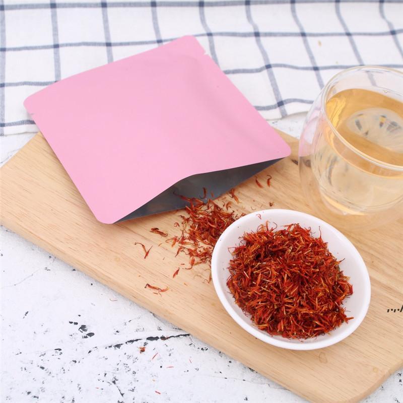 15x15 cm Differet Farbe Weiß / Gelb / Pink / Schwarz Hitzedichtbare Aluminiumfolie Flachbeutel Open Top Package Tasche Vakuum Beutel DWF6977