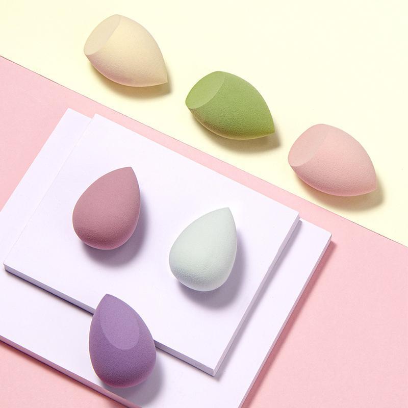 Губки, аппликаторы хлопчатобумажные Qi Professional гладкие порошковые слойки сухой и мокрого женского фонда инструмент составляют инструменты для губки макияж 1 шт.