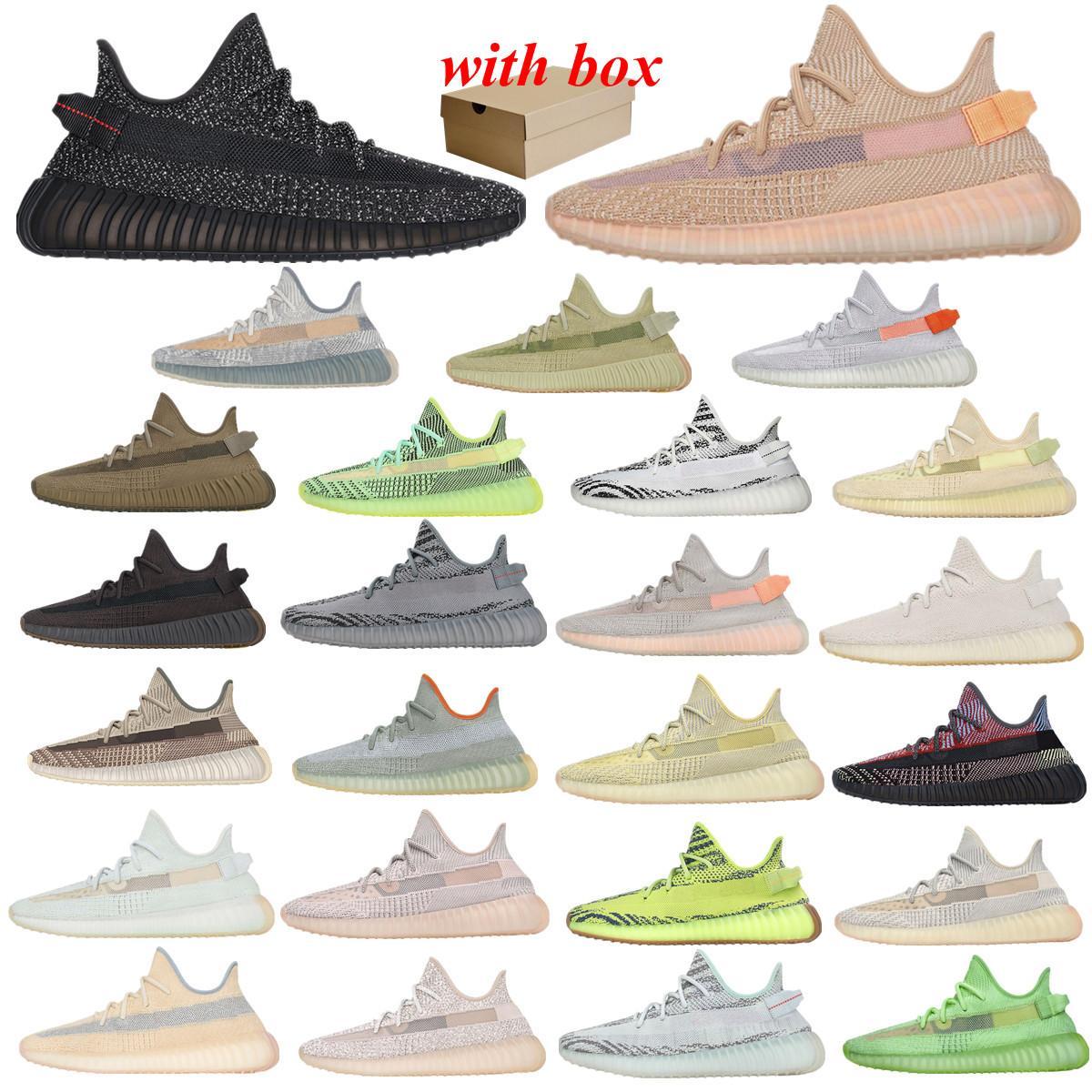 Kanye ثابت 3 متر حذاء الركض العاكس belgua 2.0 شبه المجمدة الأصفر مع مربع مصمم الرجال النساء مدرب أحذية رياضية يورو 36-46