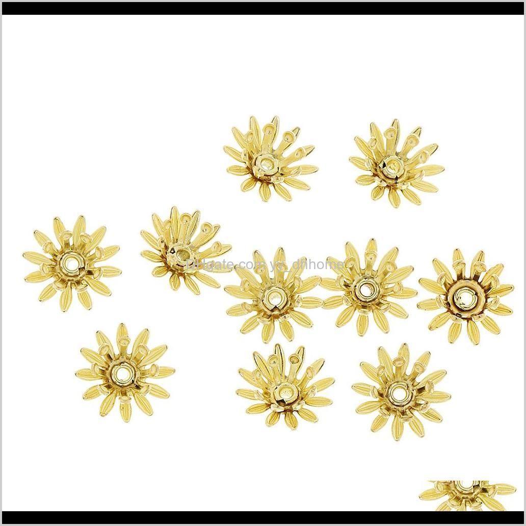 Making Tools 100Pcs Flower Bead Caps Beaded Jewelry Parts Av6Kl 3Ldku