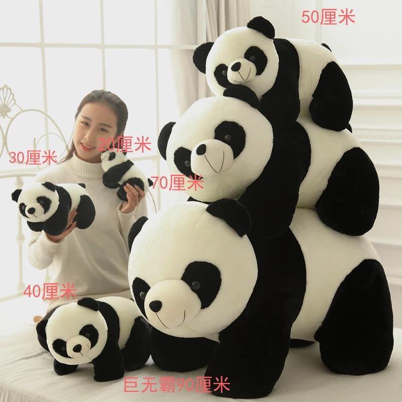 Bonito bebê grande gigante panda urso pelúcia pelúcia animal boneca animais brinquedo travesseiro desenhos animados kawaii bonecas meninas amante presentes wj151
