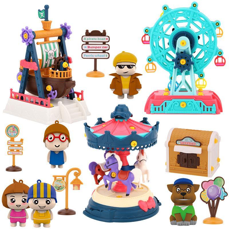 Neueste 3D Bausteine Roller Coaster Spielgerätekombination DIY Modell Ziegelmontage Spielzeug Bildung Spielzeug für Kinder Geschenke