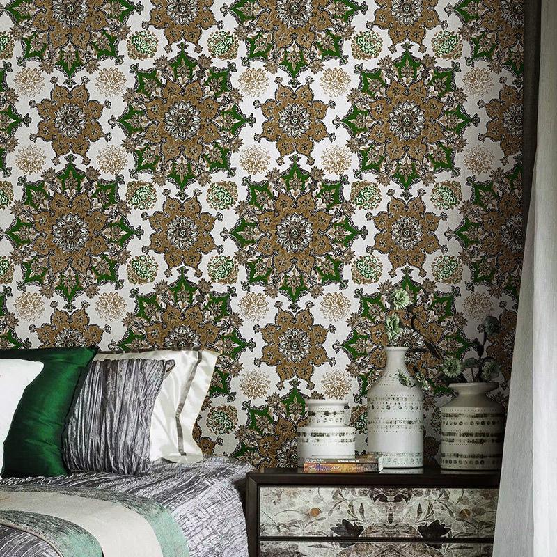 Wallpapers 10m quarto wallpaper boêmio nórdico estilo sofá sofá tv fundo à prova d 'água à prova de umidade e desgaste resistente