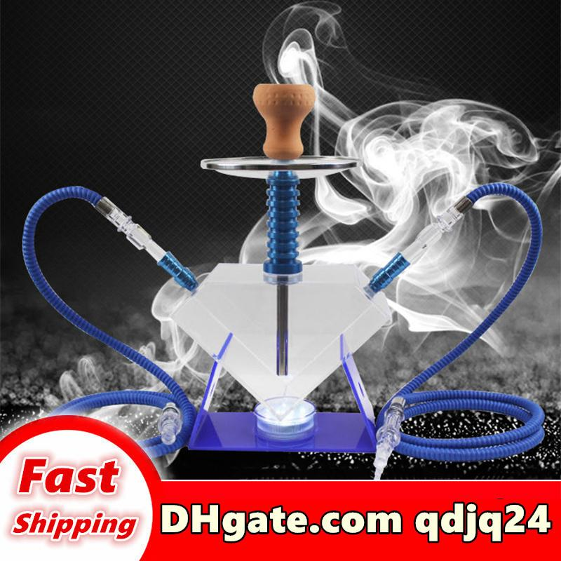 Vendita all'ingrosso e al dettaglio narghilli ad alta velocità Arabian tubo dell'acqua Bong grande strumento arabo shisha con forma a diamante