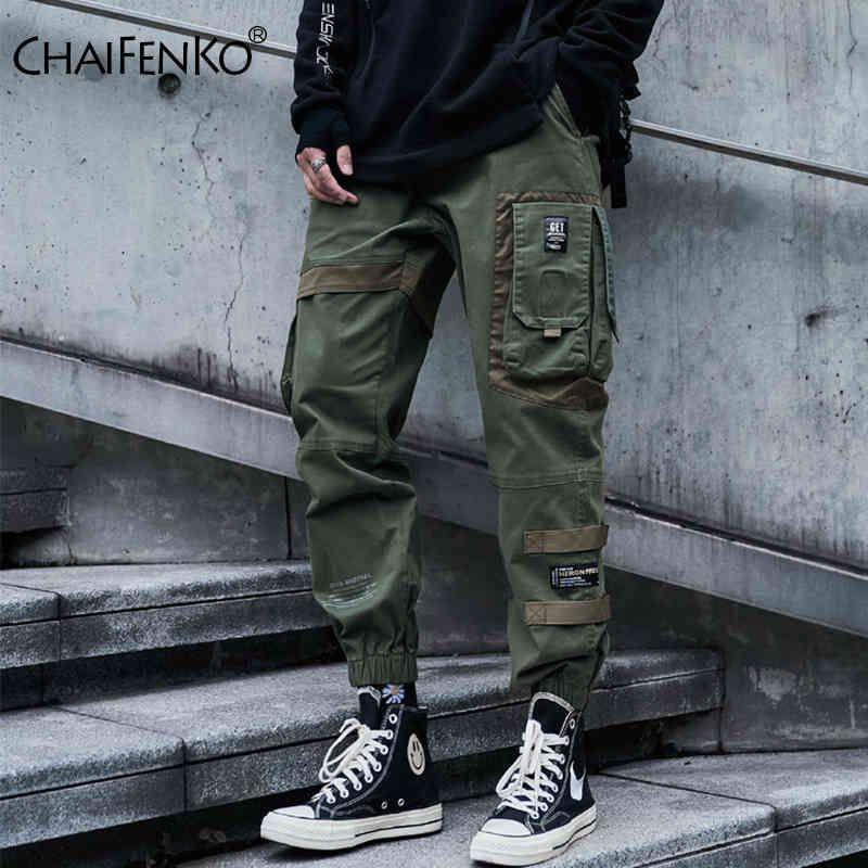 Pantalones Pantalones Chaifenko Hip Hop Hop Hombre Moda Harajuku Black Harem Streetwear Joggers Multi-Pocket Random Gentlemen
