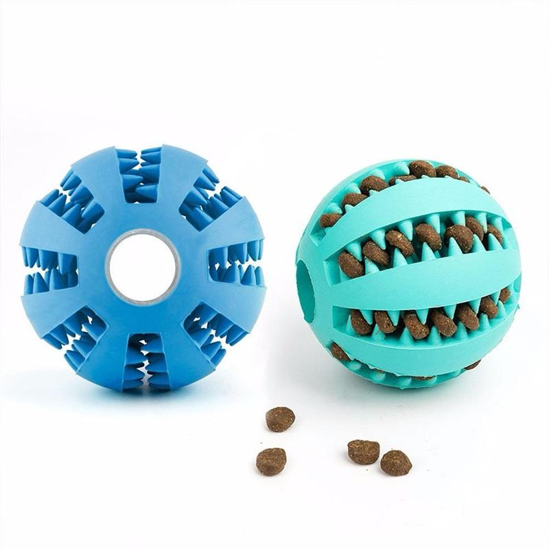 Interactive Toy Pet Cat Dog Chew Toys Tooth Cleaning Balls Pet Dog Toys Stretch Rubber Leaking Ball Pet Cat Dog 587 S2