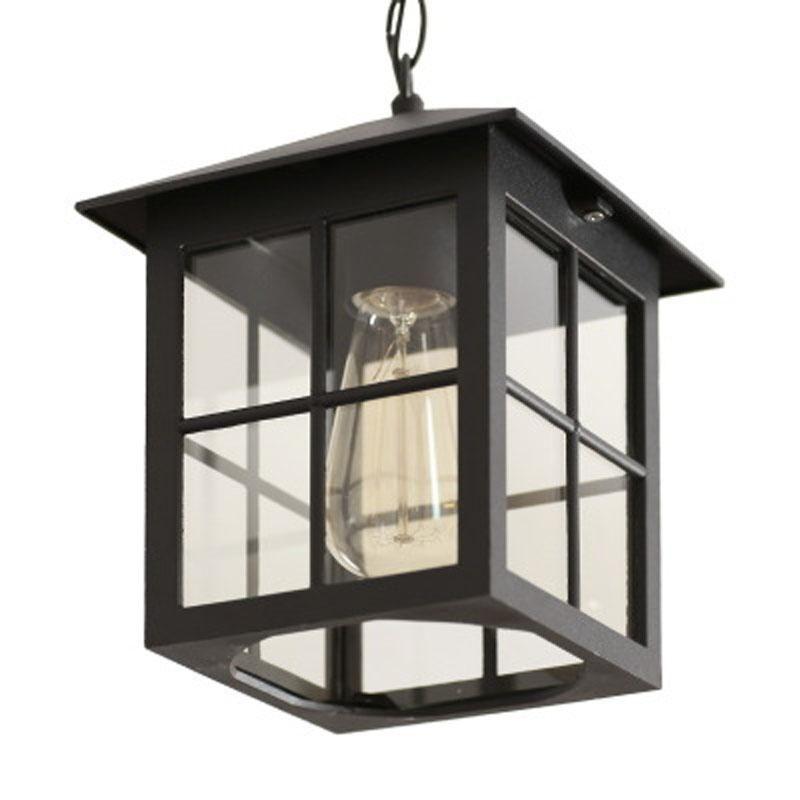 Outdoor Waterproof LED Chandelier American Country Corridor Aisle Balcony Villa Garden Courtyard Pendant Lamps