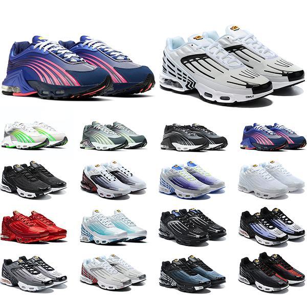 Nike Air Max TN Plus 3 Ayakkabı Toro Kırmızı Süet Sarı Turuncu mavi Kraliyet Serin Gri OG Erkek Spor Eğitmeni Atletik Sneakers 8-13 Ücretsiz Kargo