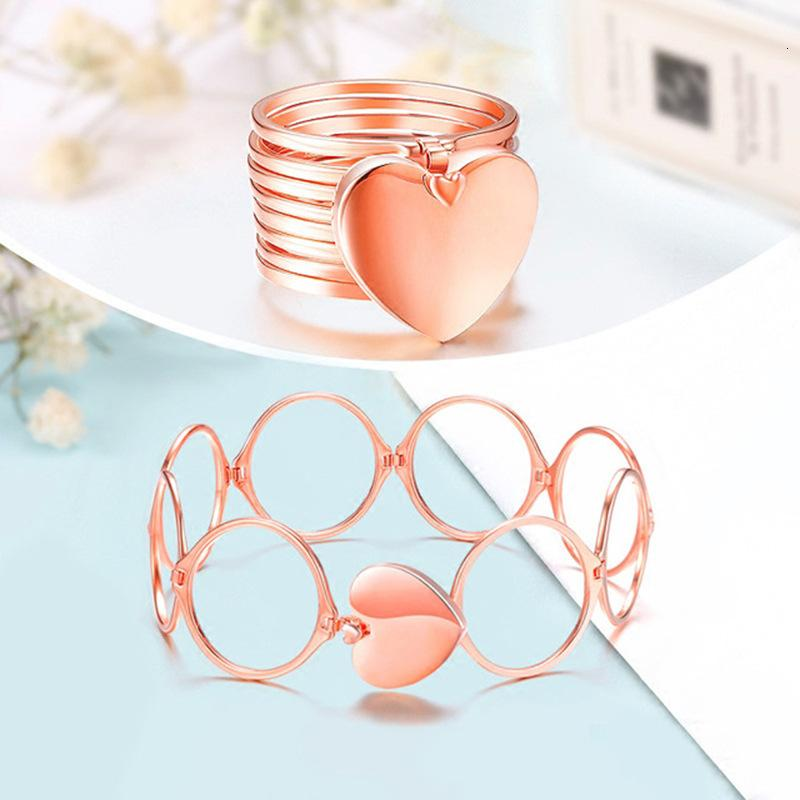 New accessories telescopic ring bracelet deformable Bracelet dual-purpose magic ring deformation love fashion jewelry