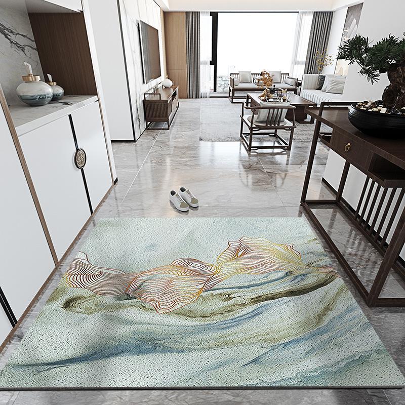 Simples porta de entrada tapete tapete doméstico remoção de poeira antiderrapante pvc tapetes de cozinha banheira de cozinha personalizado tapetes