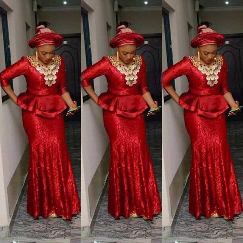 Nigérian Pal Robes Applique Sparkle Femmes African Femmes Robes de soirée Sequin Plus Taille Party Péplum Vestidos de Noite